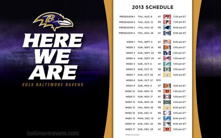 Baltimore Ravens Schedule HD Wallpaper 1080p
