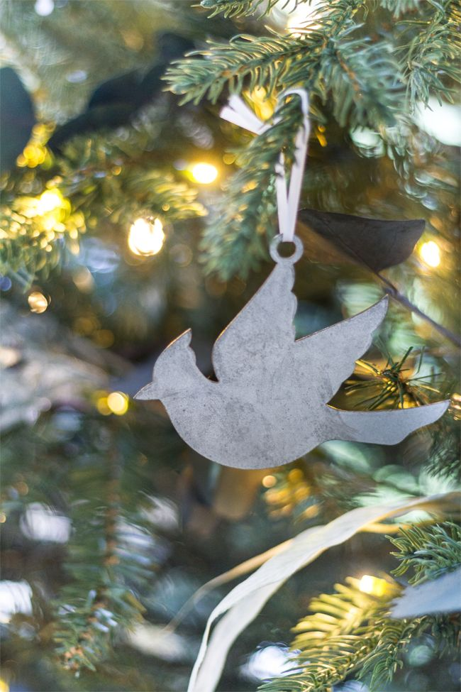 "Galvanized cardinal ornament perfect to use as a decoration or a gift tag. Measures approximately 3.5"" x 4.5"". Each ornament is sourced and made in the USA and is treated to have the appearance of a vintage finish. Each finish will vary slightly."