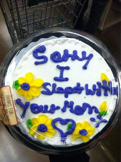 """My dad gives me this cake EVERY year on my birthday."""