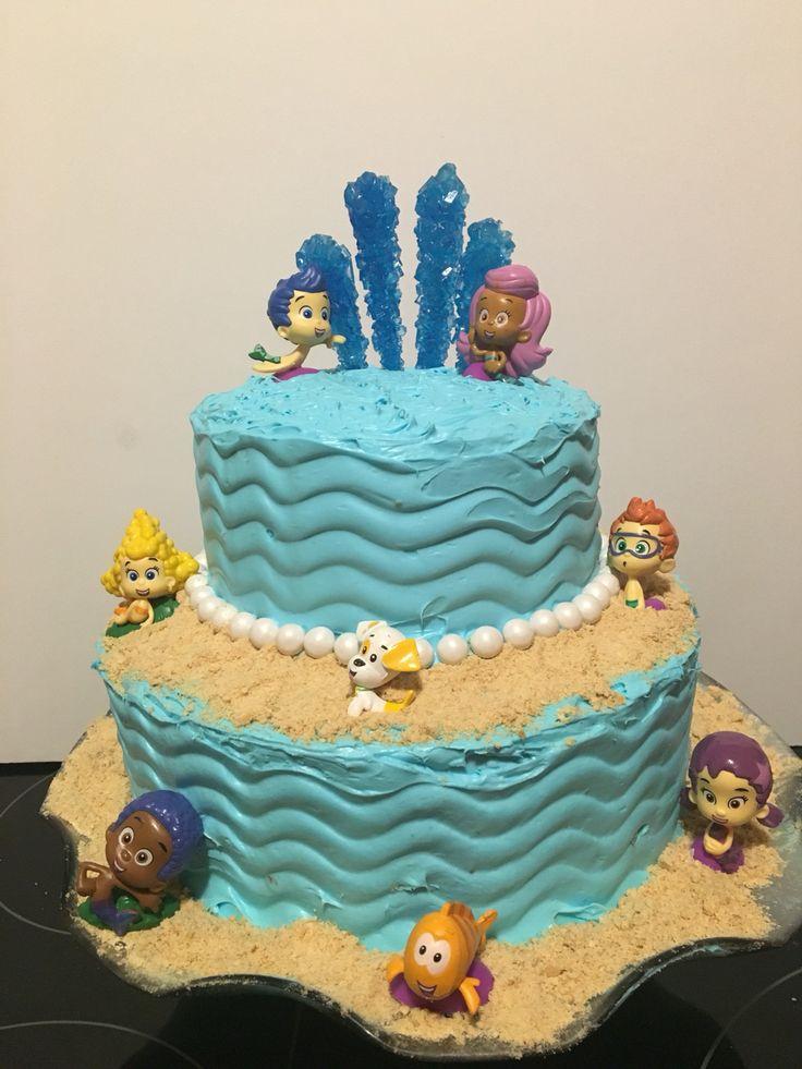 Bubble Guppies birthday cake.  #DIY #birthdaycake #cake #nickjr #bubbleguppies #2ndbirthday #underthesea #mermaid #guppy