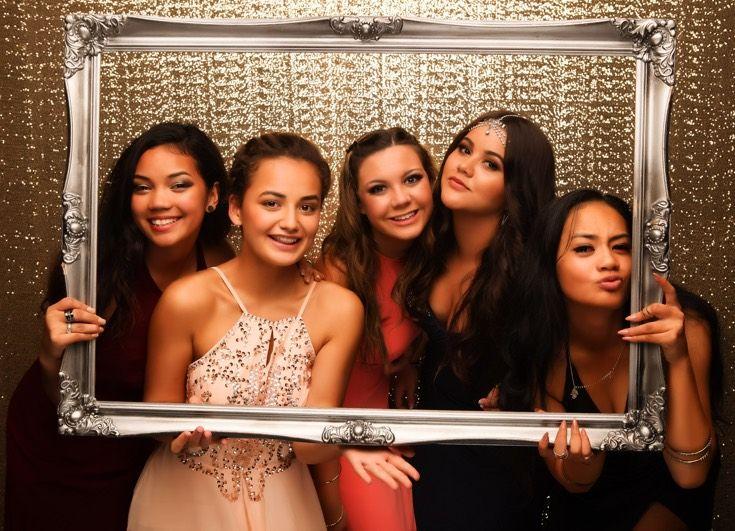 Auckland Girls Grammar Ball 2015. Beautiful friends! www.whitedoor.co.nz
