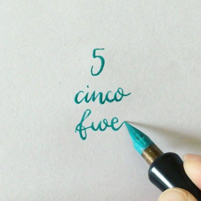 #readbetweentheletters #readbetweentheletters_5 #calligraphy #caligrafia #5 #cinco #five #speedball #pluma #ink #speedballink #numbers #numeros #numberscalligraphy #caligrafianumeros