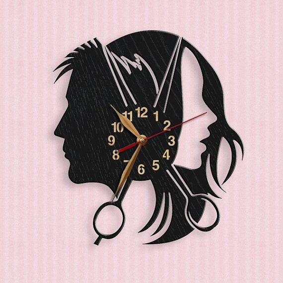Salón de belleza reloj de pared de madera de 12 pulgadas 30