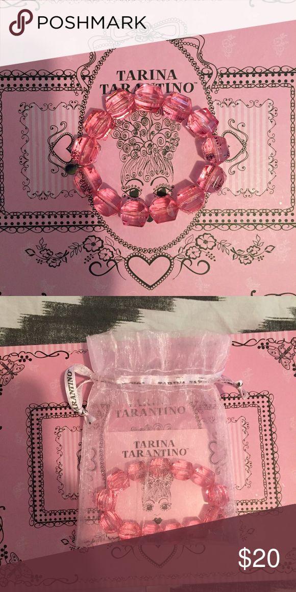 Pink Lucite Tarina Tarantino Bracelet Pink beaded bracelet. Stretches to fit most. Brand: Tarina Tarantino Tarina Tarantino Jewelry Bracelets
