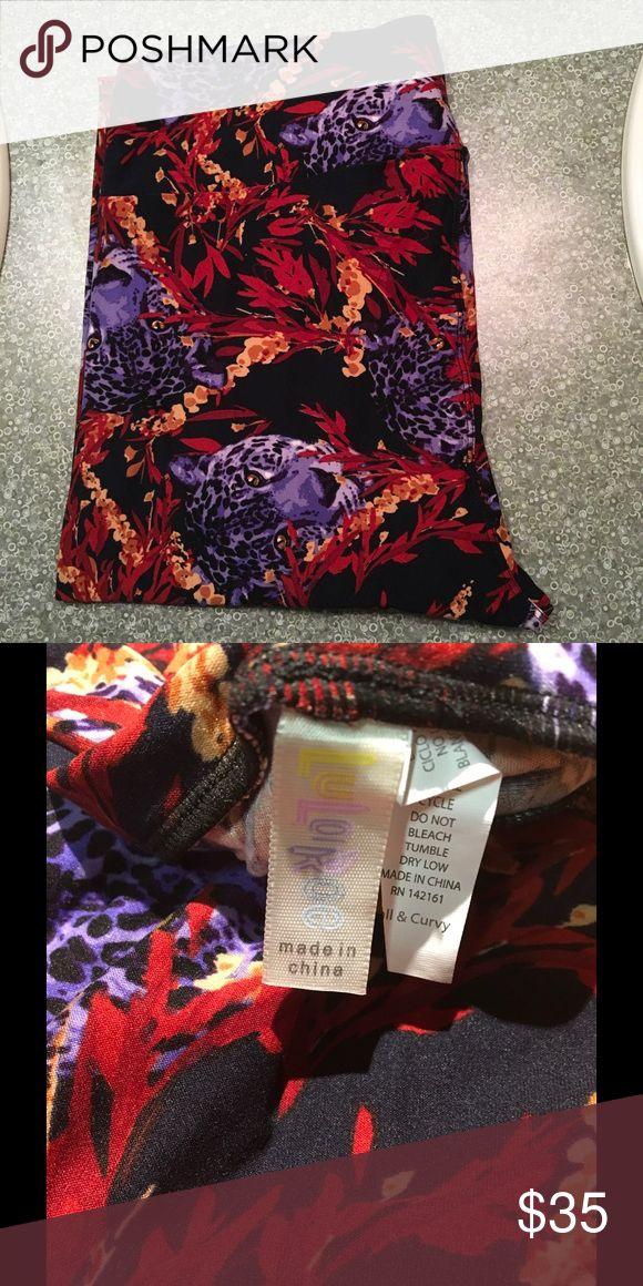 LuLaRoe purple Cheetah Leggings NWT NWT LuLaRoe Pants Leggings