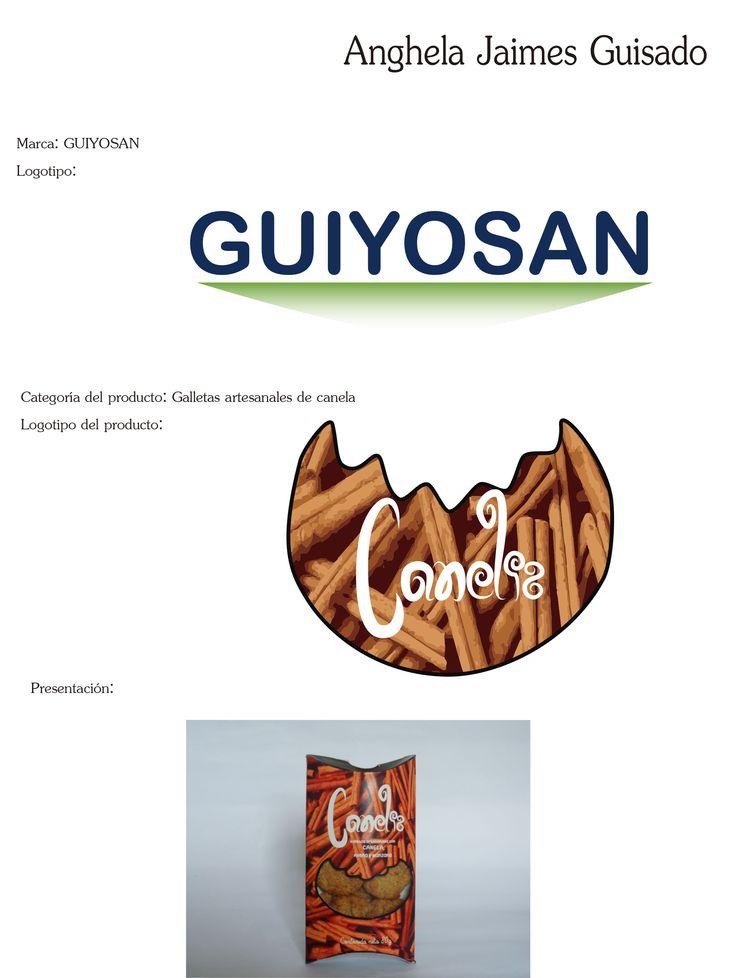 Hoja de presentación: logo de la empresa, logo de la galleta, empaque de la galleta.
