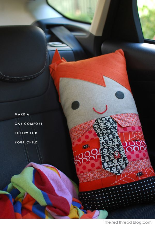 Sew A Cute Puppy Pillow Softie : Make a travel pillow softie for your child to cuddle the red thread :: create, inspire, share ...