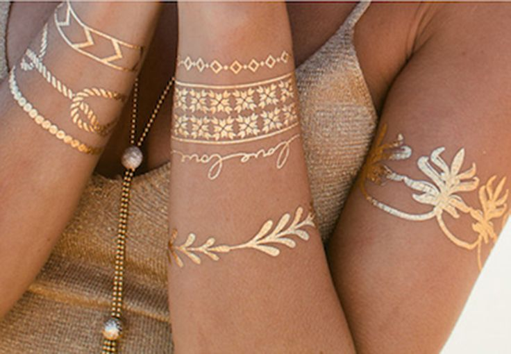 DIY Inspiration: Temporary Metallic Tattoos | Why Don't You Make Me
