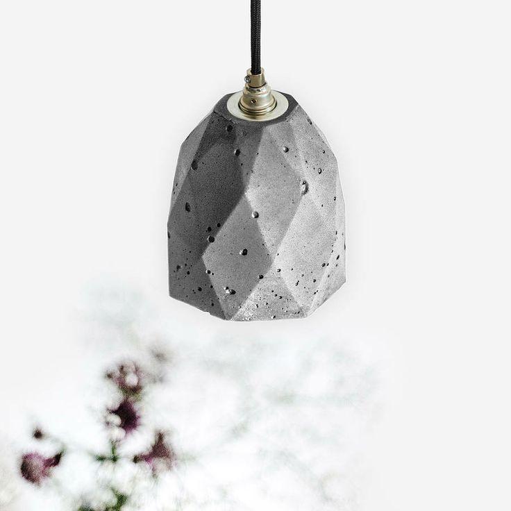 concrete pendant light handcrafted lamp t1 by gant & mania | notonthehighstreet.com