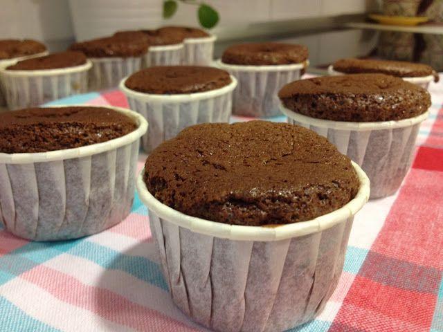 Sin gluten: Madalenas chocolatosas