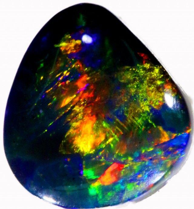 Black Opal Stones 8 x 0.5 x 3mm 1.25 carats Auction #642383 Opal Auctions