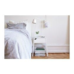 "SELJE Nightstand with wireless charging, white - 18 1/8x14 5/8 "" - IKEA"