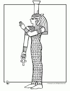 egyptian art coloring 4 231x300 Ancient Egypt Coloring Pages