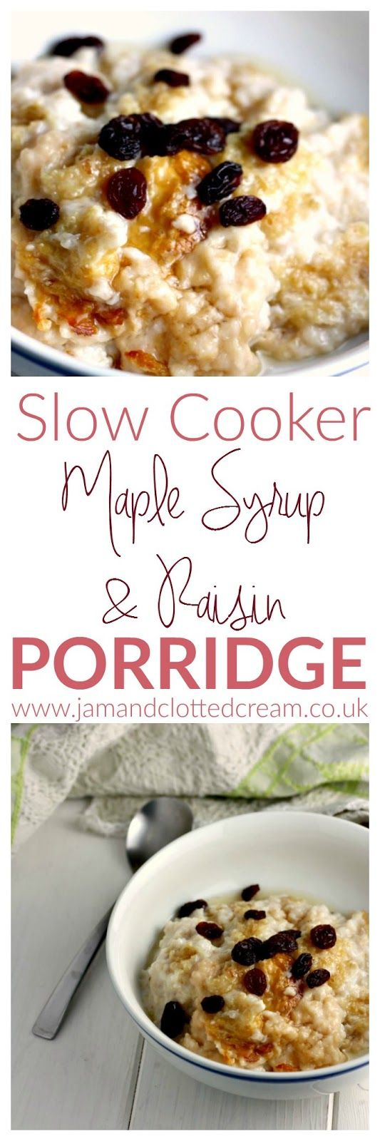 Slow Cooker Maple and Raisin Porridge