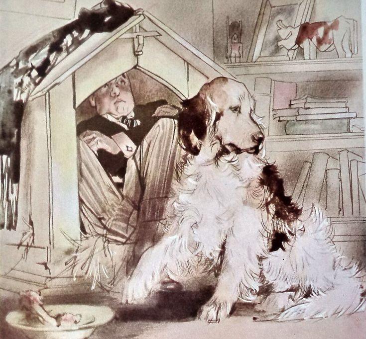 1940 Original Peter Pan Nana Dog Print Litho, Nana, Blapied print,  Nursery Decor, Child Gift, Original Print, Neverland, Hook, Room Decor by MushkaVintage3 on Etsy