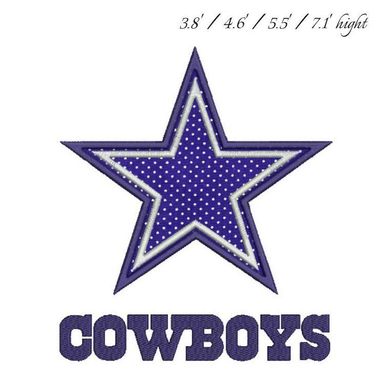 Dallas Cowboys applique Embroidery Design digital download instant download by GretaembroideryShop on Etsy