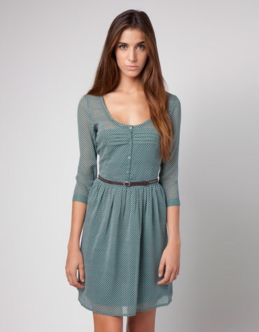 Bershka Latvia - BSK printed dress