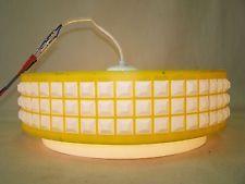 Schöne alte Hängelampe, Kult Retro Design Lampe, 70er Jahre Space Age, gelb
