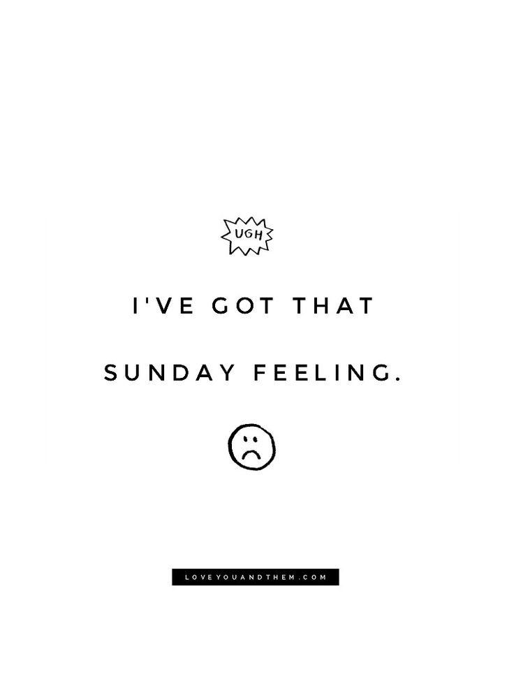Sunday evening vibes