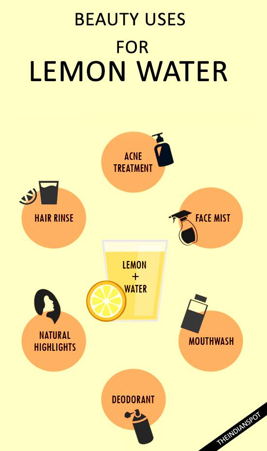 beauty with lemon water - for skin and hair