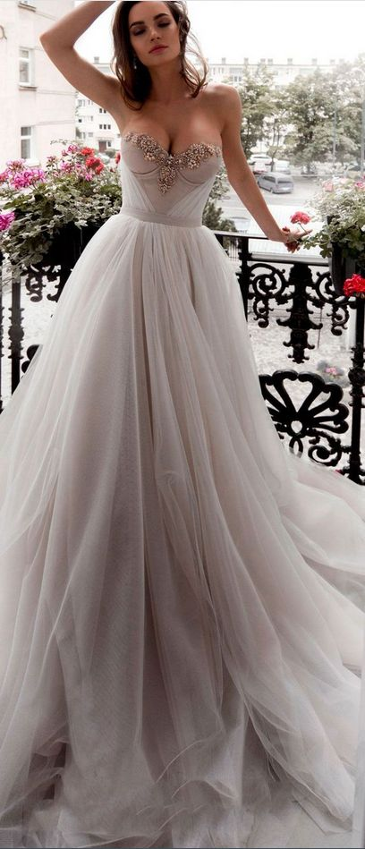 Strapless charming wedding dress,full length evening dress,prom dress – wunderbare Outfits