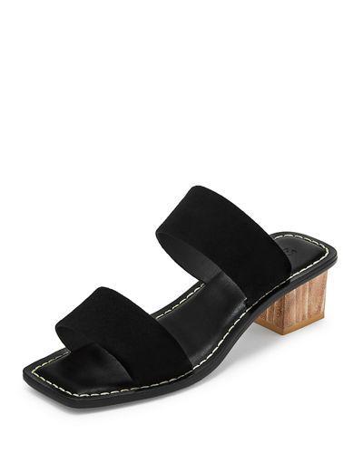c5290ac4c9bc Mercedes Castillo Lavinia Two-Band Leather Slide Sandals