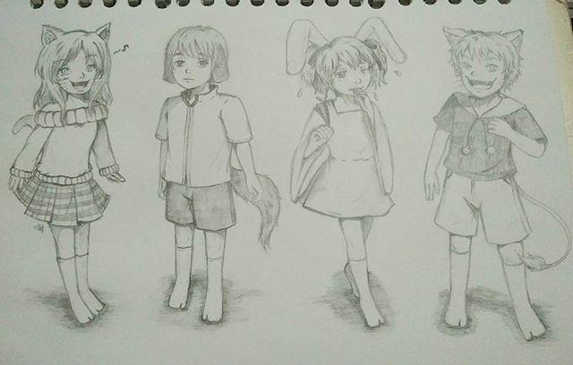 Pet Children  #drawing #animedrawing