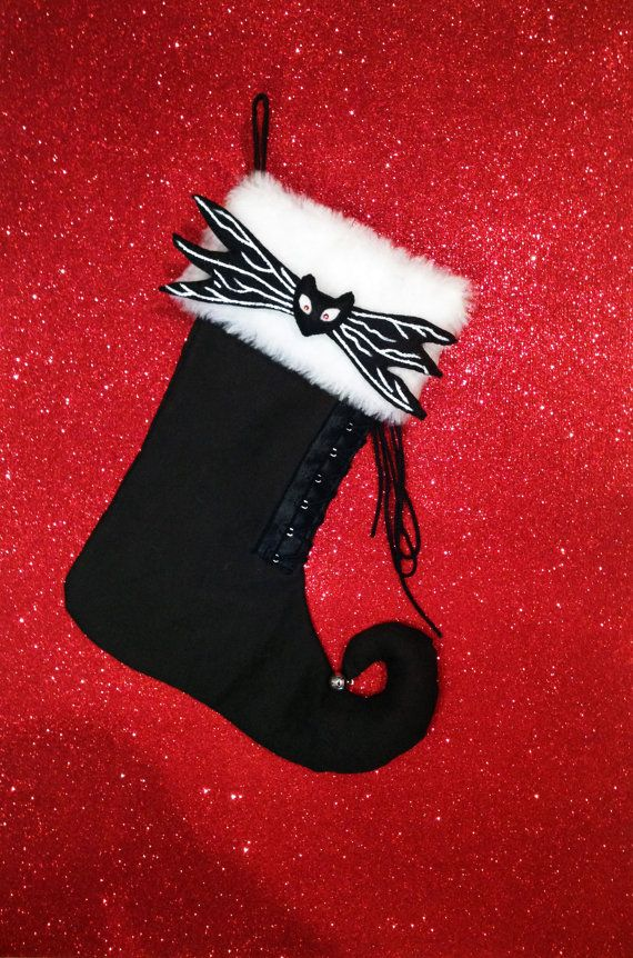 Christmas stocking for gifts or candy. Sock elf por WitchDreams