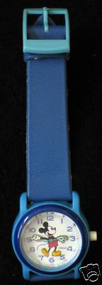 Lorus Mickey Mouse Watch Blue w/Blue Band Needs New Battery Nice Condition