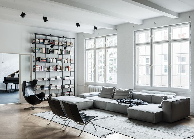 Effortless cool abounds in this spacious, light-filled Berlin artist loft and home studio designed by the talented Annabell Kutucu.