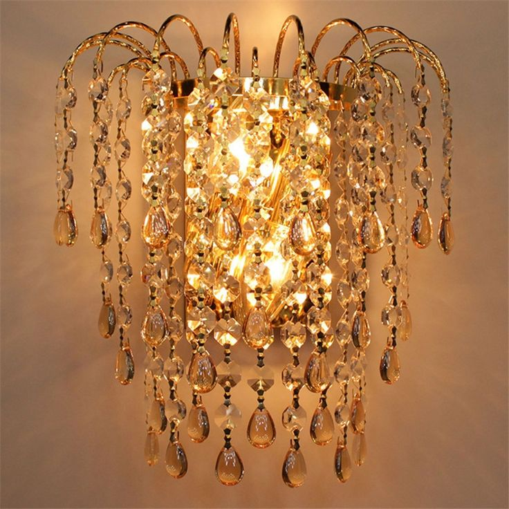 89.60$  Watch now - http://aliy9a.worldwells.pw/go.php?t=32669108804 - K9 Crystal Wall Sconces Living Room Modern Aisle Corridor Brief Wall Lamps European Style K9 Crystal Lightings 89.60$