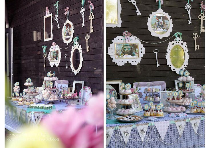 """Baiciurina Olga's Design Room: Alice in Wonderland wedding theme (tea party)Свадьба в стиле """"Алиса в стране чудес"""" (Чаепитие)"""