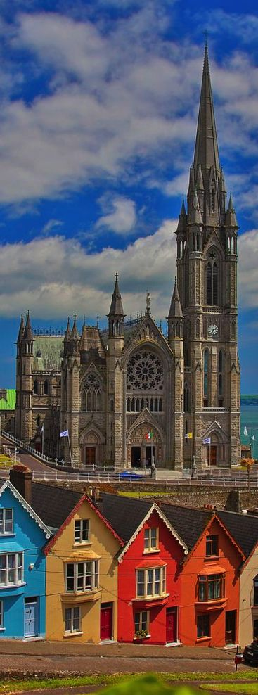 I liked this picture of Cobh (pronounced cove) in county Cork, Ireland and now I just realized that I visited that church this weekend!!!!!