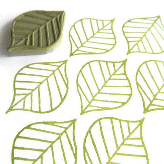 Summer Leaf Pattern Stamp - Cling Rubber Stamp on Etsy, $10.10 AUD
