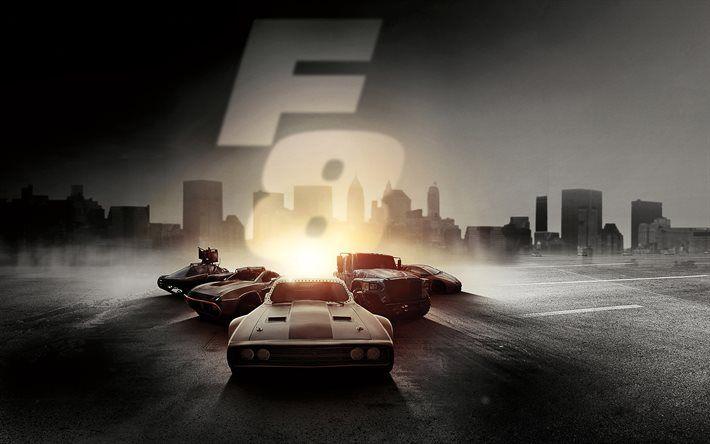 Lataa kuva Kohtalo Raivoissaan, 2017, Fast and Furious 8, uusia elokuvia