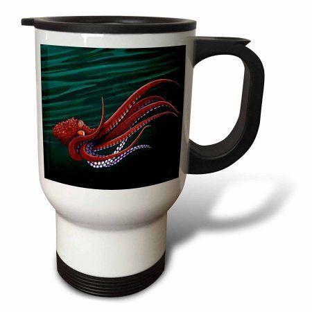 3dRose Octopus, Travel Mug, 14oz, Stainless Steel