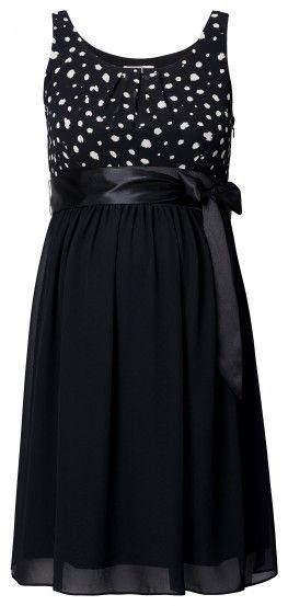 Tehotenské elegantné šaty bez rukávov NOPPIES - čierna