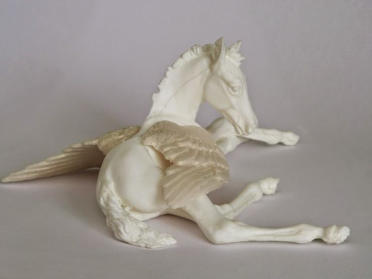 "sculptor Kelly Savage, ""Union Jack Pegasus"" model horse"