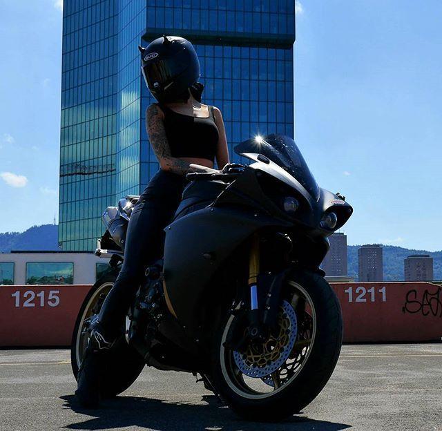 WEBSTA @ miisses_black - Frieeeeedaay  Hope you have a amazing day ! RIDE SAFE MY FRIEND  ------------------------------------------------------------------#blackforestrider #miisses_black #love #bike #couplegoals #moto #motorbike #motorcycle ------------------------------------------------------------------ helmet @hjc_helmets Made by my man @blackforestrider !