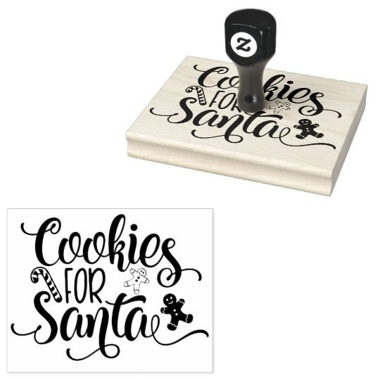 Cookies For Santa Christmas Rubber Stamp