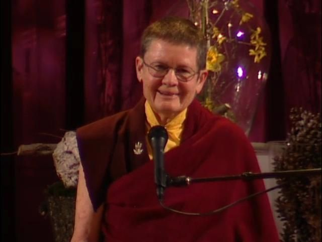 """Befriending who we are ~ Pema Chödron http://quotes.justdharma.com/befriending-who-we-are-pema-chodron/  Meditation practice isn't about trying to throw ourselves away and become something better, it's about befriending who we are.  – Pema Chödron  from the book """"The Wisdom of No Escape and the Path of Loving Kindness"""" ISBN: 978-1570628726  -  https://www.amazon.com/gp/product/1570628726/ref=as_li_tf_tl?ie=UTF8&camp=1789&creative=9325&creativeASIN=1570628726&linkCode=as2&tag=jusdhaquo-20"""