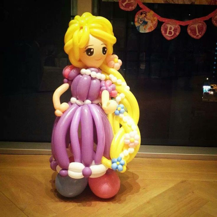 Rapunzel of Disney made by balloon, amazing @@