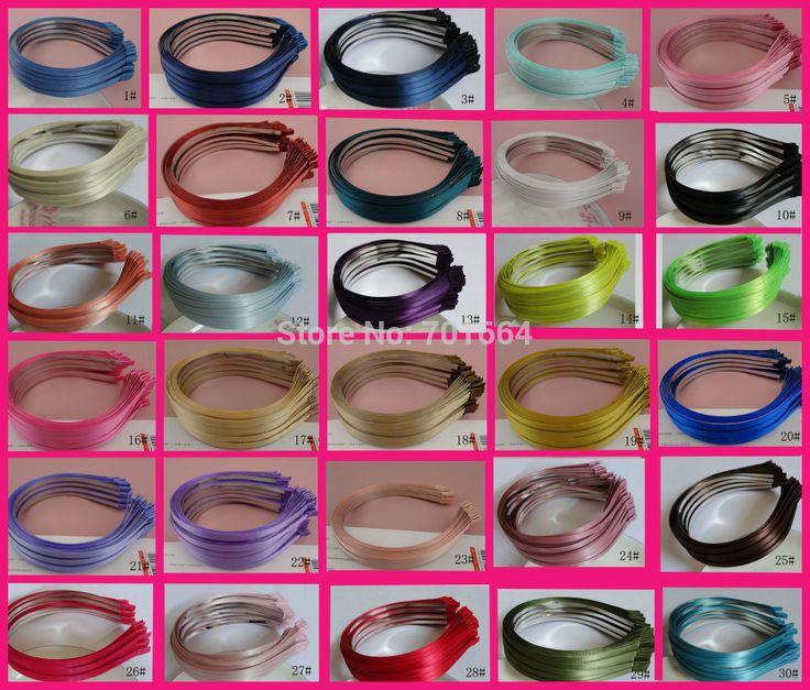 $30.96 (Buy here: https://alitems.com/g/1e8d114494ebda23ff8b16525dc3e8/?i=5&ulp=https%3A%2F%2Fwww.aliexpress.com%2Fitem%2FBARGAIN-for-BULK-30-colors-for-selection-5mm-satin-ribbon-covered-plain-metal-hair-headbands-at%2F1373358923.html ) 50PCS  Assorted colors for selection 5mm satin ribbon covered plain Metal Hair Headbands for DIY Hair jewelry,BARGAIN for BULK for just $30.96