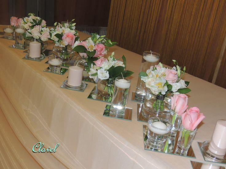 peach wedding, wedding table setting