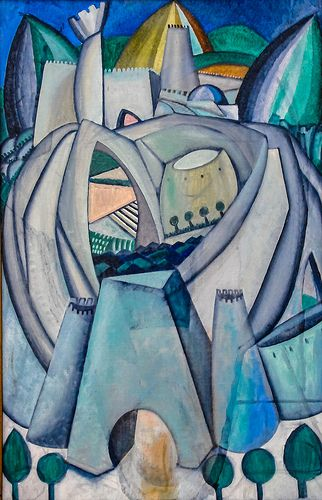 Amedeo de Souza Cardoso - The Stronghold, 1912 at the Art Institute of Chicago IL | Flickr - Photo Sharing!