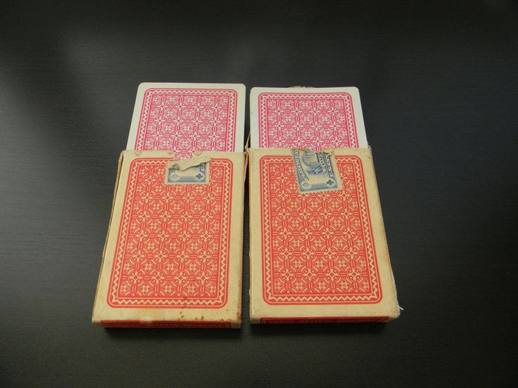 Vtg. 2 Pinochle Playing Cards 48 Lion Co Ltd Superior Playing Card Made Israel