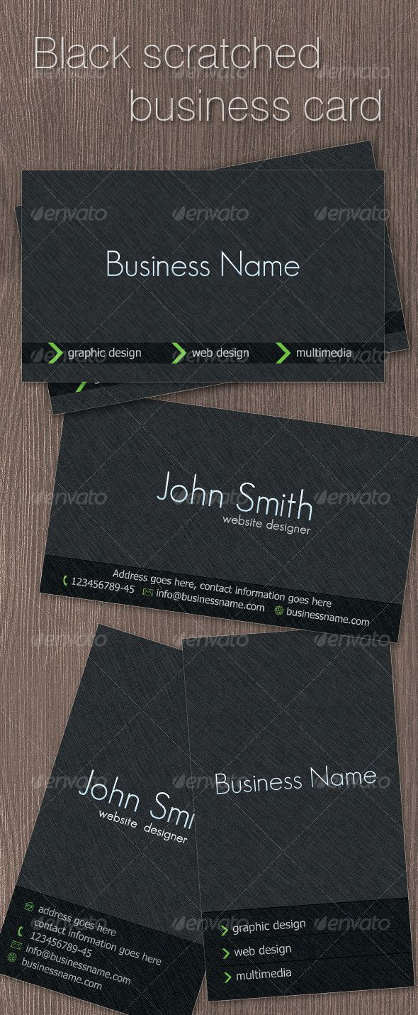 82 best print templates images on pinterest fonts come in and black scratched business card magicingreecefo Choice Image