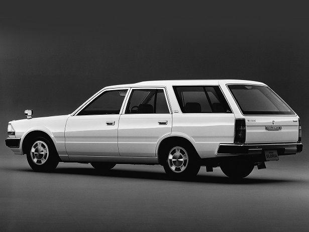 懐かしいなー。 荷室のサイドウィンドウ、Cピラーにあるカギ穴パワーウィンドウ。 Nissan Gloria Wagon (1985 – 1999).