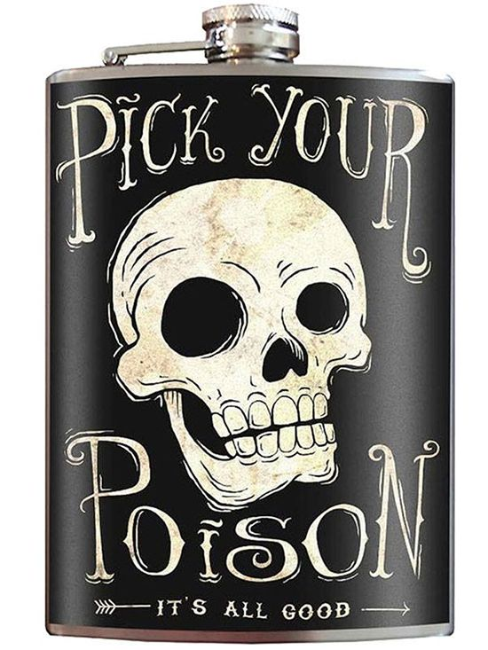 """Pick Your Poison"" Flask by Trixie & Milo"