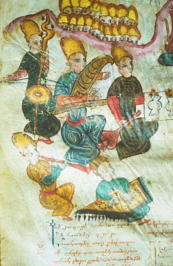 MUSIC & THE ART OF THE BOOK - Group of Musicians, Matenadaran, XVIth or XVIIth century. Photo: Matenadaran